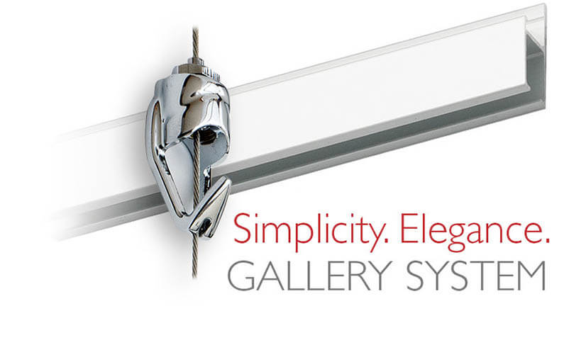 picture hanging systems for art hanging by Gallery System