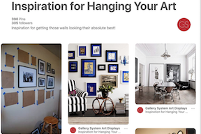 Art Gallery Hanging Systems Featured on Pinterest