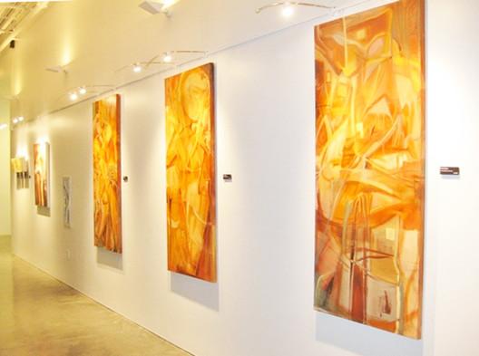 Gallery System Art Hanging Equipment Provides Elegantly Simple Display Capabilities At Daytona Beach S Scarlett Golden Center