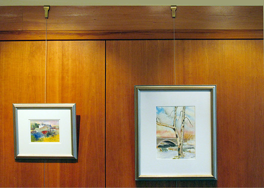 Picture Rail Hooks and Picture Rail Hangers by Gallery System Art Displays