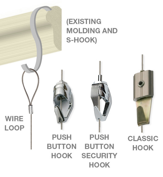 Gallery System looped cable Hangers