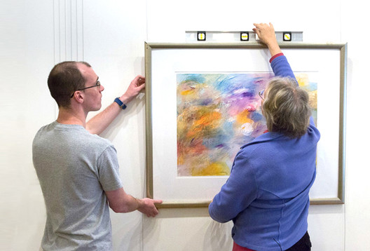 Our Picture Hanging System in Use at a Boston Gallery