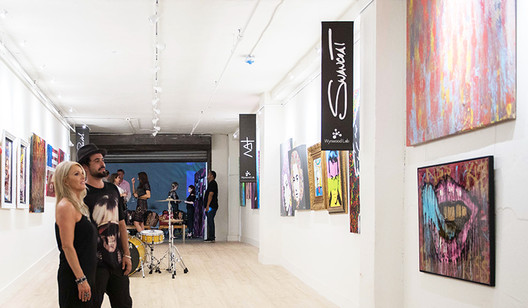 Art Hanging System in Use at Casa Wynwood
