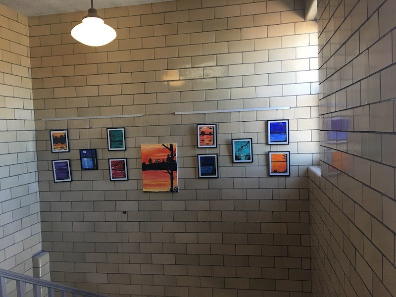 School Art Displays are easier with a Gallery System