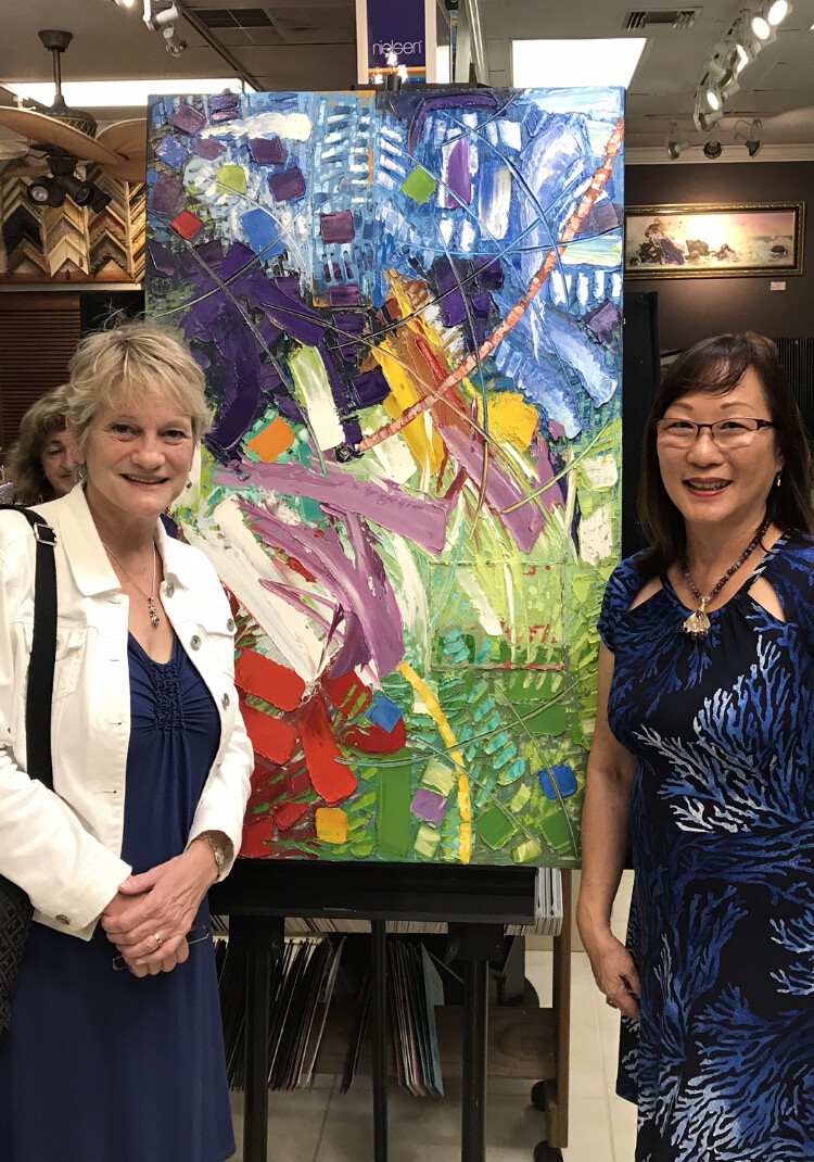 Carolyn Edlund and Mai Yap at Exhibition