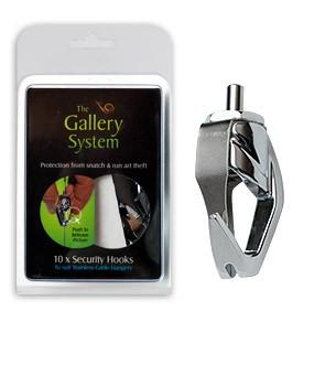 Push Button Security Hooks for Gallery System Gallery Hanging Systems