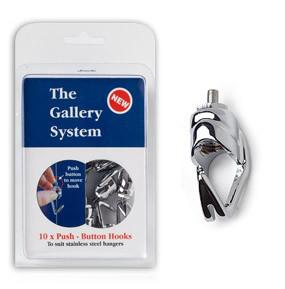 Original Gallery Art Hanging System-Push Button Hooks