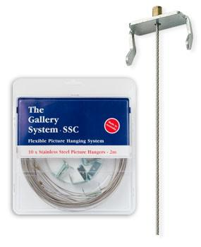 Stainless Steel Hangers with Sliders for Gallery Hanging System