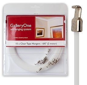 Clear Tape Hanger for GalleryOne Art Hanging System