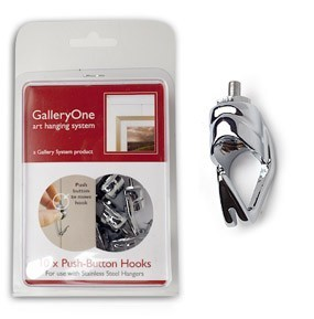 Push Button Mini-Hooks for GalleryOne Picture Hanging System