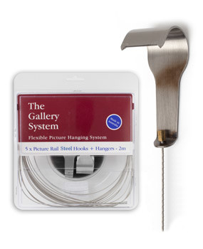Picture Rail Hooks for Gallery System Picture Rail Hangers