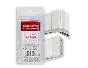 End Caps - White - for GalleryOne Art Hanging Systems